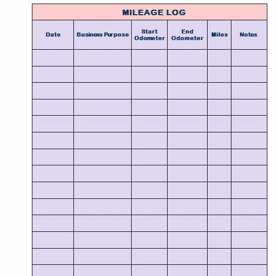 Mileage Log for Taxes Template New Printable Mileage Log Templates Free Template Lab Book for