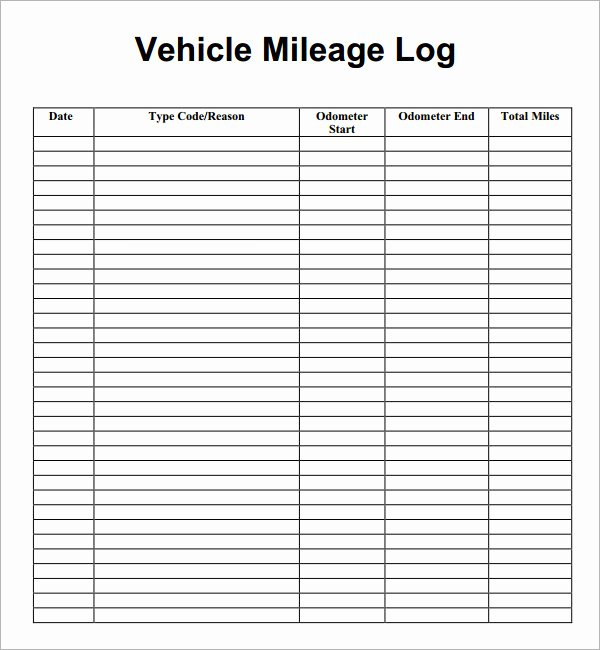 Mileage Log for Taxes Template Unique 13 Sample Mileage Log Templates to Download