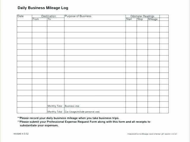 Mileage Log Template for Taxes Fresh How to Calculate Your Business Related Driving Expenses