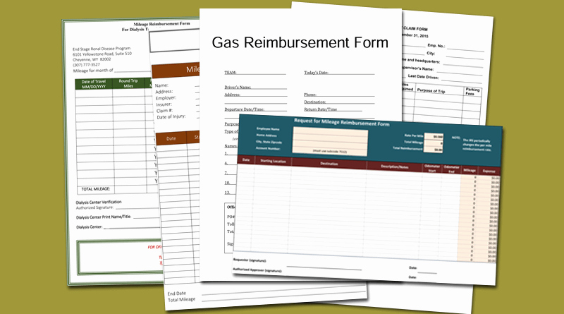 Mileage Reimbursement form Template Elegant 5 Mileage Reimbursement form Templates for Word and Excel