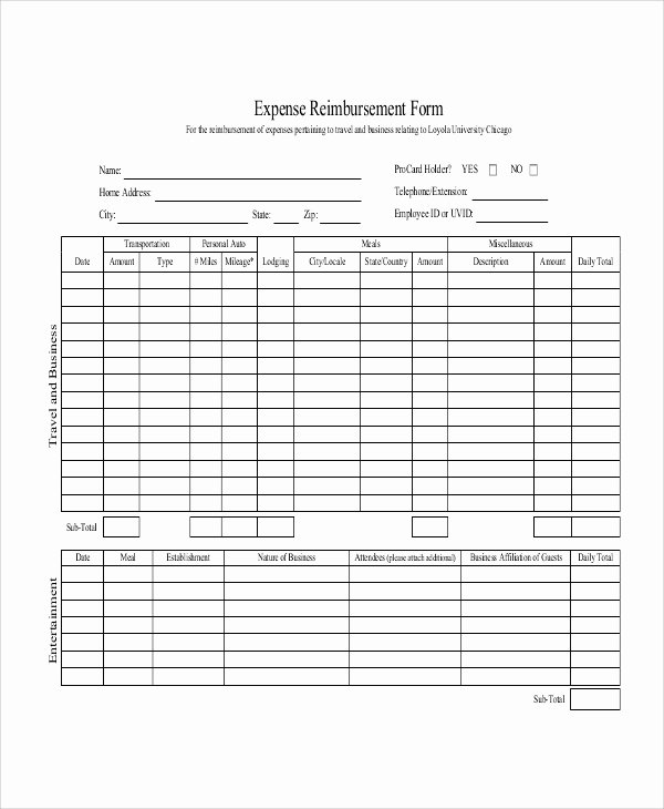 Mileage Reimbursement form Template Luxury 11 Sample Mileage Reimbursement forms