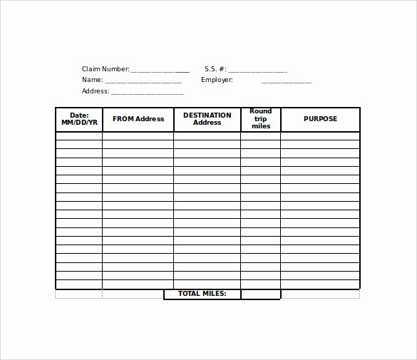 Mileage Reimbursement form Template Luxury Sample Mileage Reimbursement form 8 Download Free