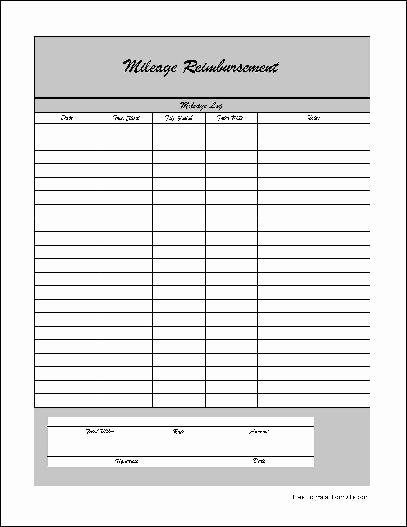 Mileage Reimbursement form Template Unique Mileage Reimbursement form Pdf