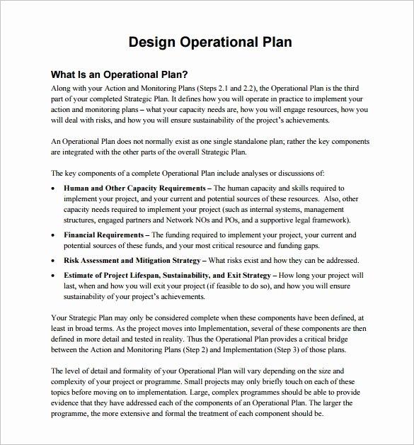 Military Operations Plan Template Elegant 20 Operational Plan Templates Doc Pdf