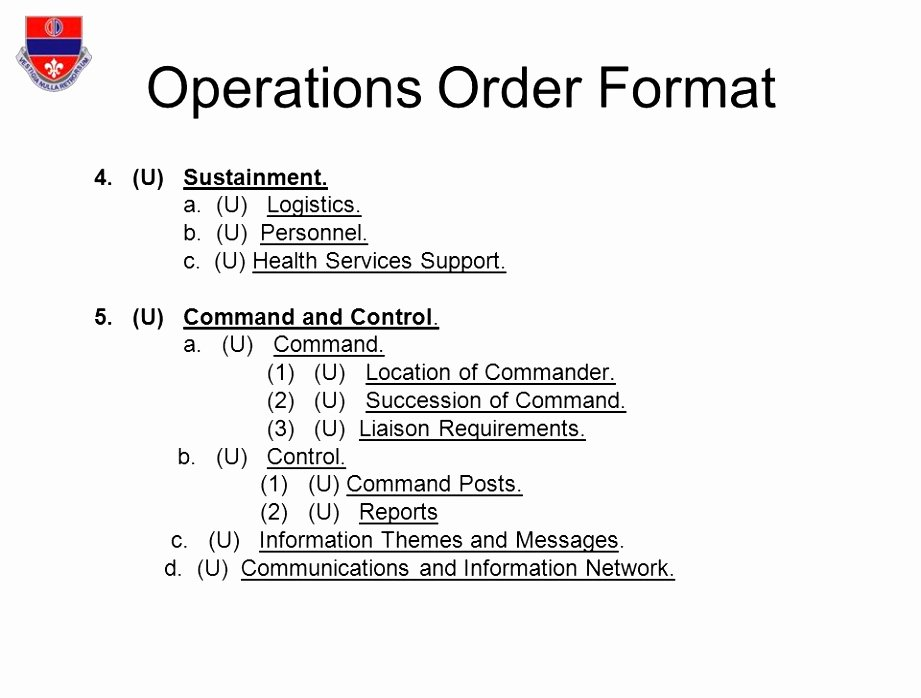 Military Operations Plan Template Luxury Army Operations order format Hunt Hankk