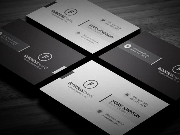 Minimalist Business Card Template Awesome Clean Minimalistic Business Card Template Free Download