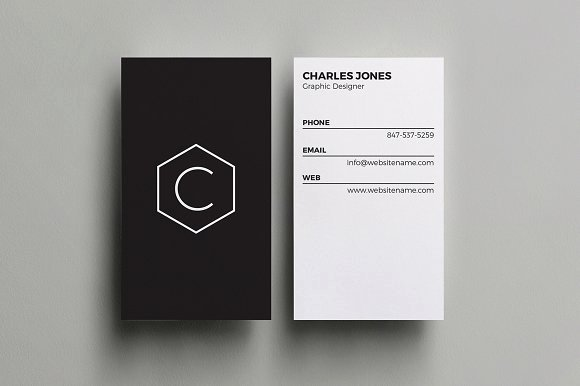 Minimalist Business Card Template Awesome Minimal Business Card Business Card Templates Creative