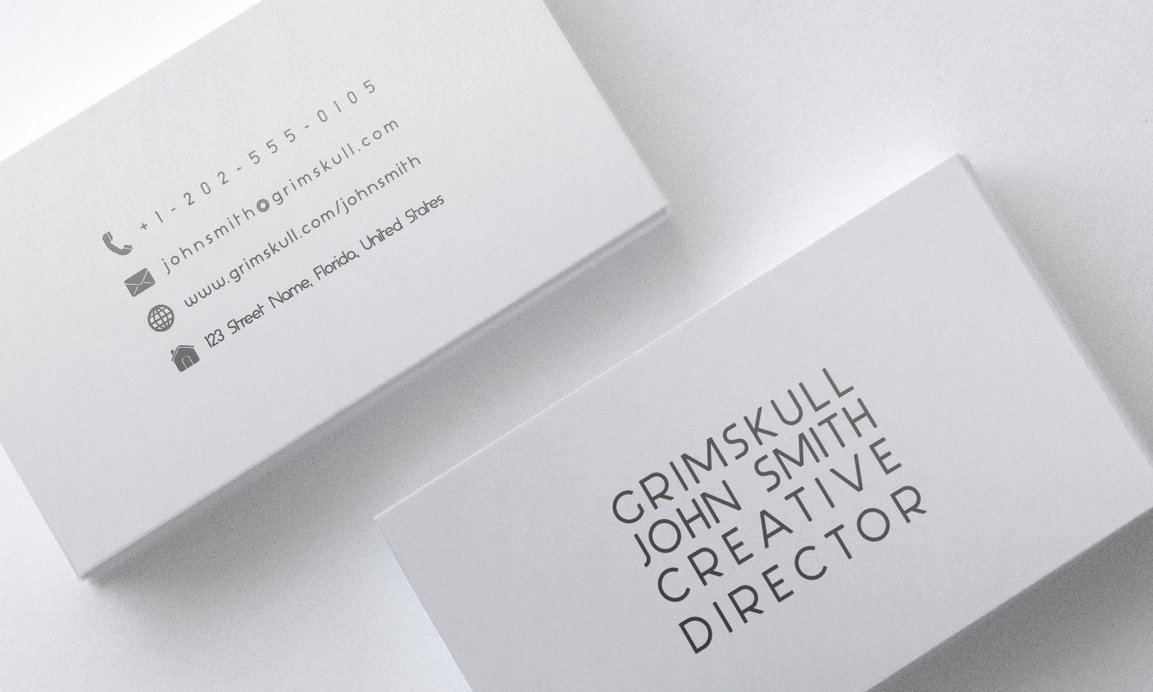 Minimalist Business Card Template Awesome Minimalist White Business Card Template by Nik1010 On