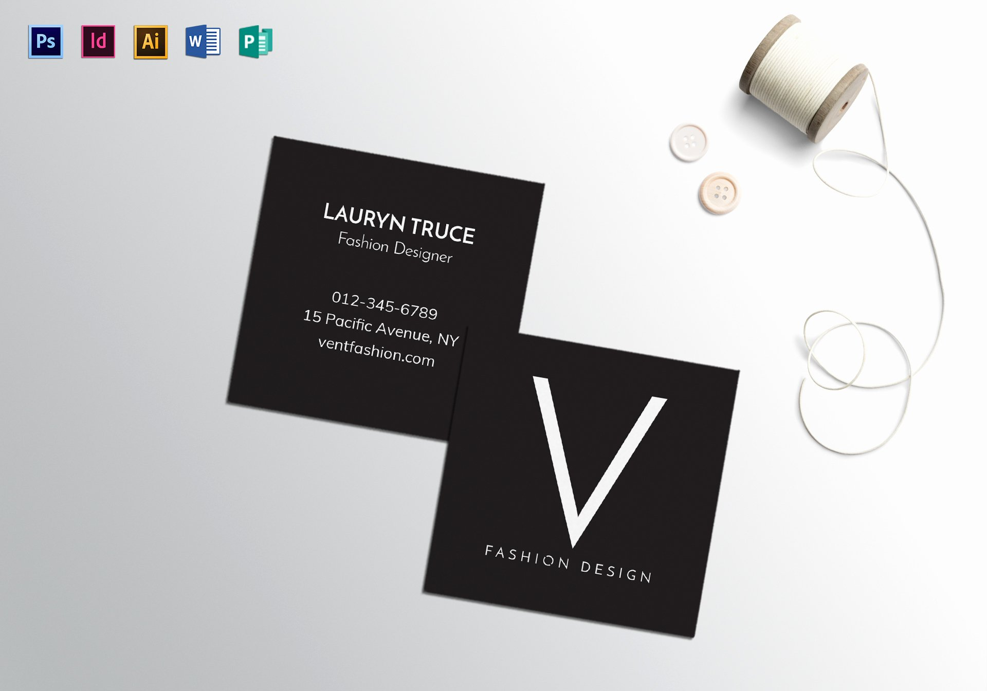 Minimalist Business Card Template Awesome Square Minimal Business Card Template In Psd Word