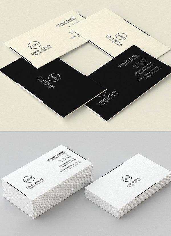 Minimalist Business Card Template Beautiful 30 Minimalistic Business Card Designs Psd Templates