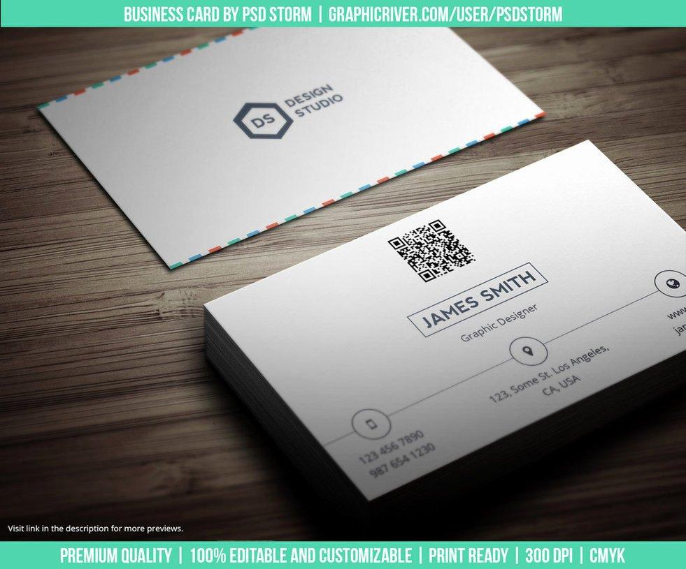Minimalist Business Card Template Beautiful Creative and Minimal Business Card Template by Psdstorm On