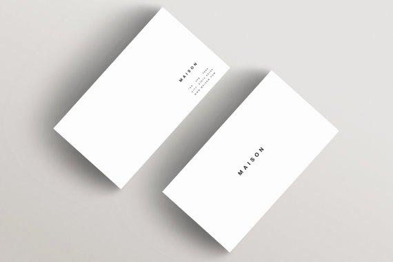 Minimalist Business Card Template Beautiful Maison Minimalist Business Card Template Business Card