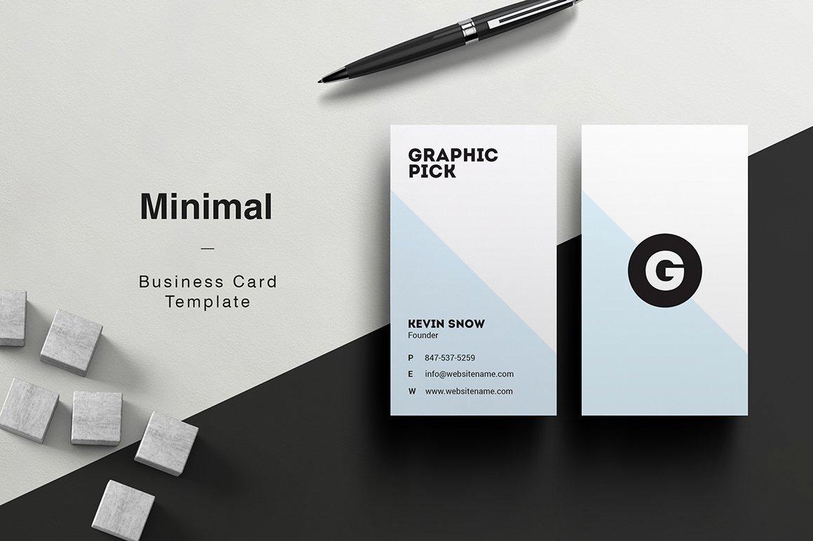 Minimalist Business Card Template Beautiful Minimal Business Card Business Card Templates Creative