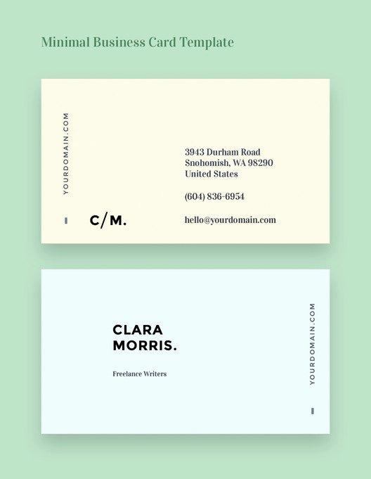 Minimalist Business Card Template Elegant Free Business Card Templates for Architects