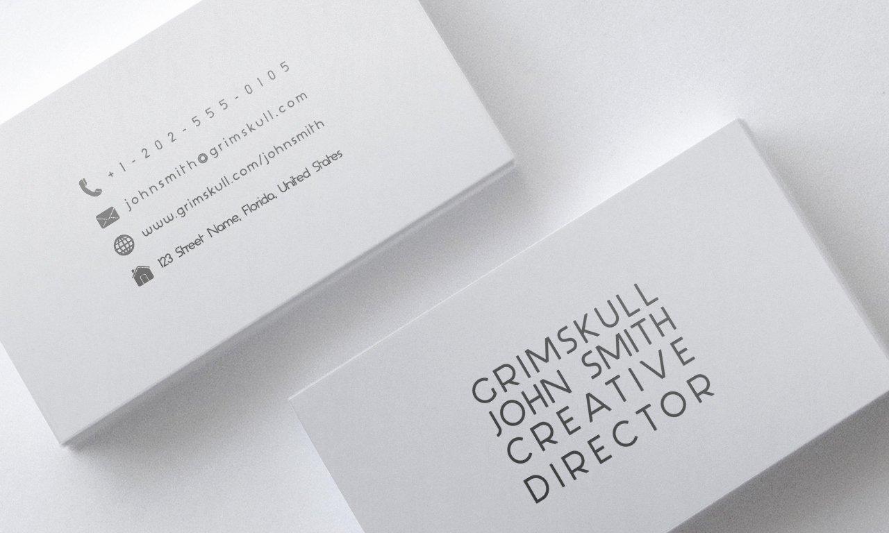 Minimalist Business Card Template Elegant Minimalist White Business Card Template by Nik1010 On