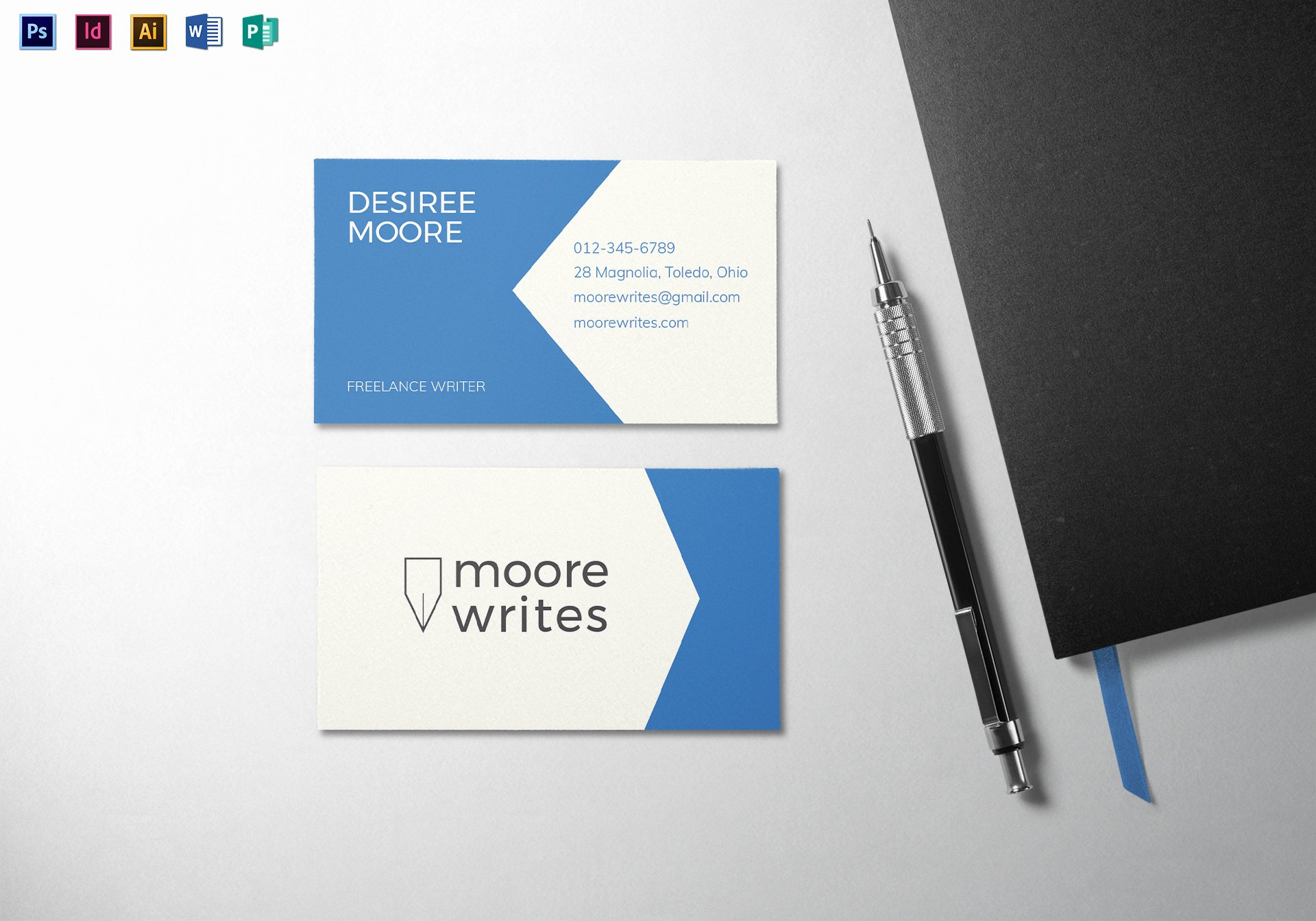 Minimalist Business Card Template Inspirational Modern Minimal Business Card Template In Psd Word