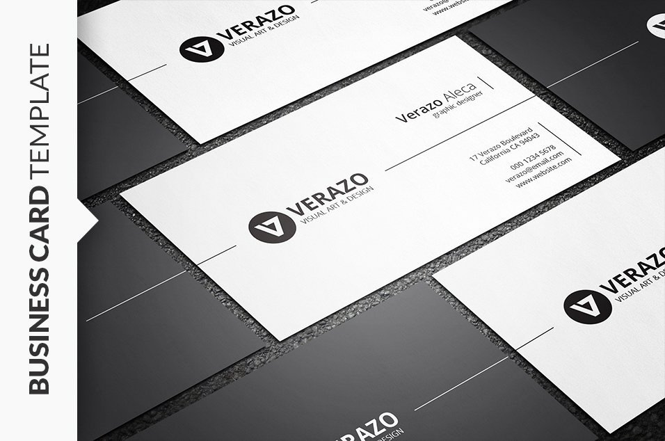Minimalist Business Card Template Lovely Stylish Minimal Business Card Business Card Templates