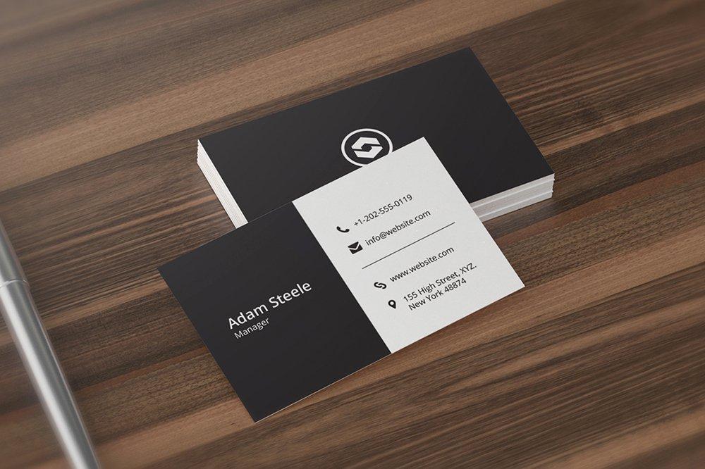 Minimalist Business Card Template Luxury Minimal Business Card Template Business Card Templates