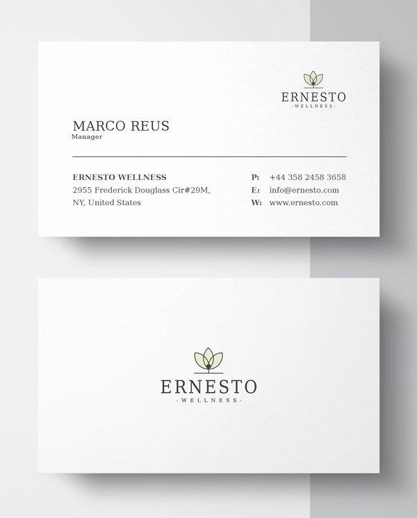 Minimalist Business Card Template Luxury New Printable Business Card Templates Design