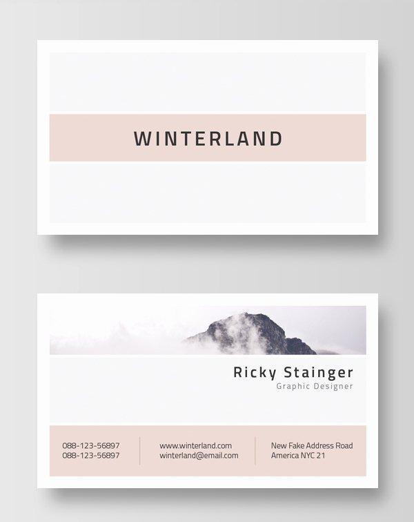 Minimalist Business Card Template New 30 Minimalistic Business Card Designs Psd Templates