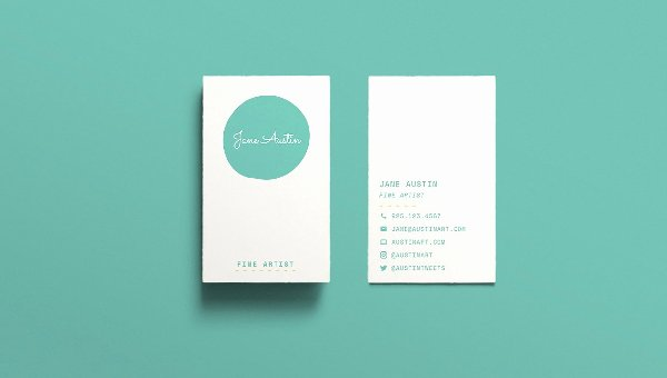 Minimalist Business Card Template New Creative Templates Free Templates