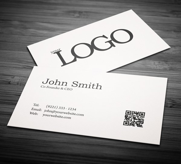 Minimalist Business Card Template New Free Business Cards Psd Templates Print Ready Design