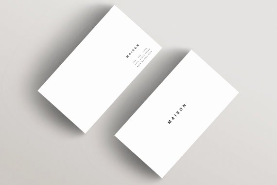 Minimalist Business Card Template New Maison Minimalist Business Card Template Business Card