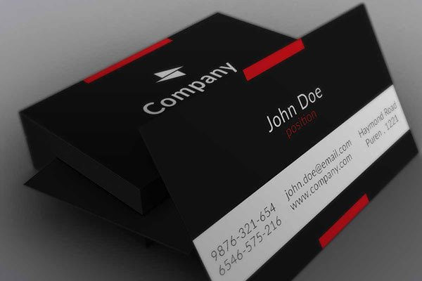 Minimalist Business Card Template Unique Free Business Cards Psd Templates Print Ready Design