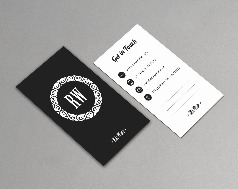 Minimalist Business Card Template Unique Vertical Business Card Template Printable Minimalist