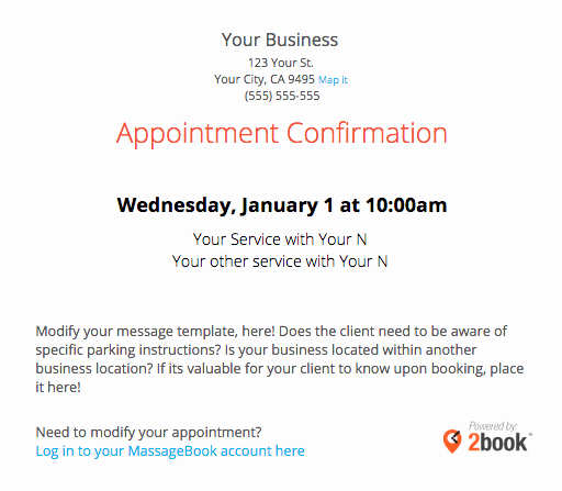 Missed Appointment Email Template Inspirational Sending Automated Appointment Emails to Clients – Massagebook