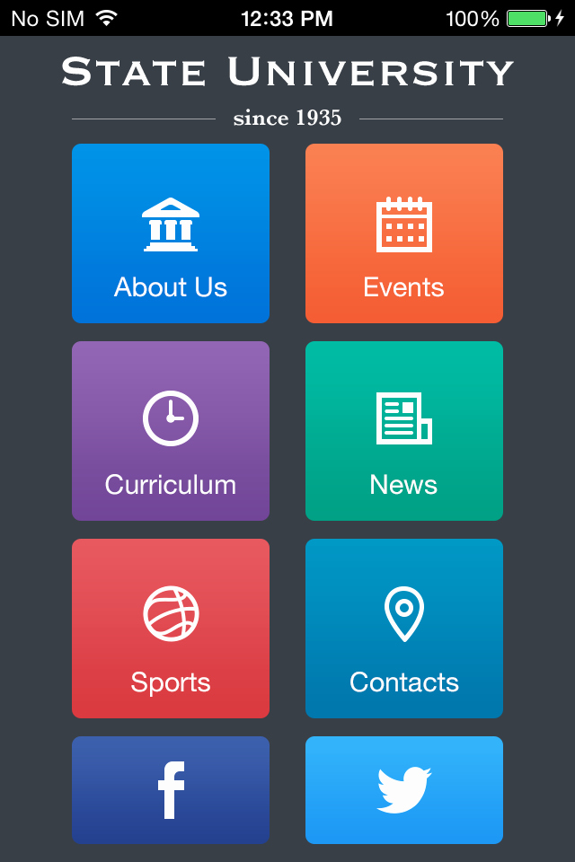 Mobile App Design Template Awesome Use State University to Make Your Free Mobile App