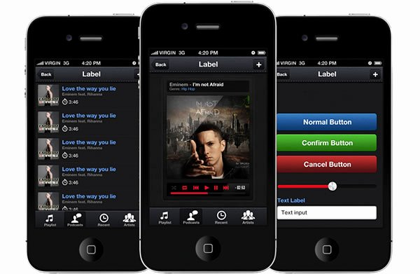 Mobile App Design Template Awesome Win 2 iPhone App Design Templates From App Design Vault X2
