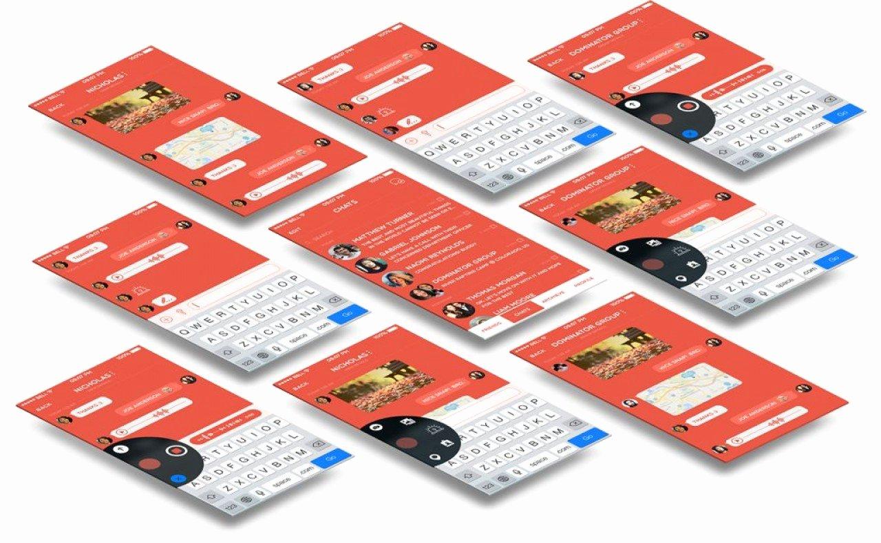 Mobile App Design Template Beautiful Buy Chit Chat A Mobile Chat App Design Template Utilities
