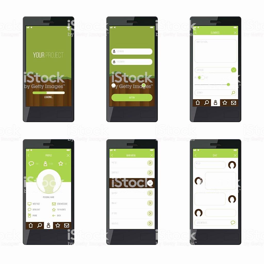 Mobile App Design Template Beautiful Template Mobile Application Interface Design for Website