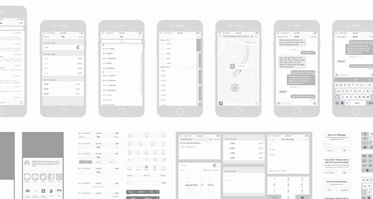 Mobile App Design Template Elegant 50 Free Wireframe Templates for Mobile Web and Ux Design