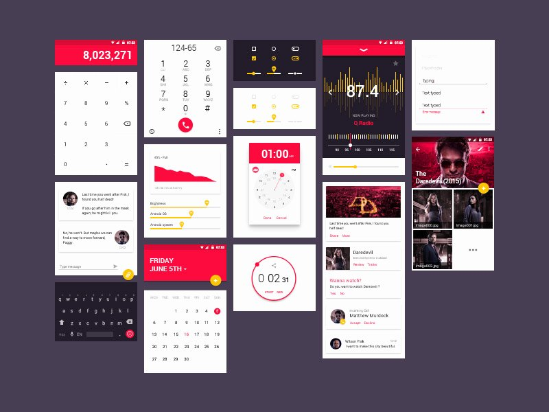 Mobile App Design Template New 15 Free android Ui Kits for Mobile App Designers