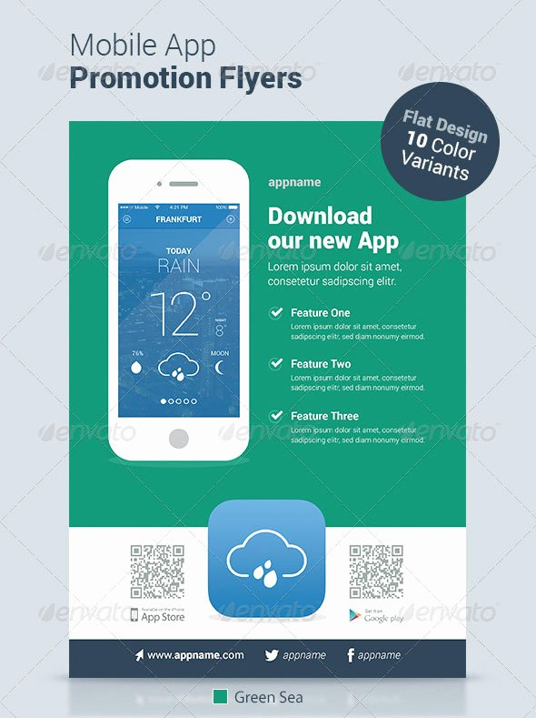 Mobile App Design Template New 30 Effective Web & Mobile Apps Flyer Psd Templates