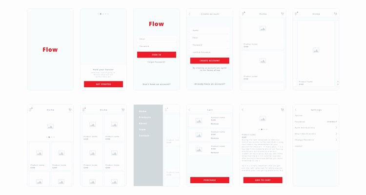 Mobile App Design Template New 50 Free Wireframe Templates for Mobile Web and Ux Design