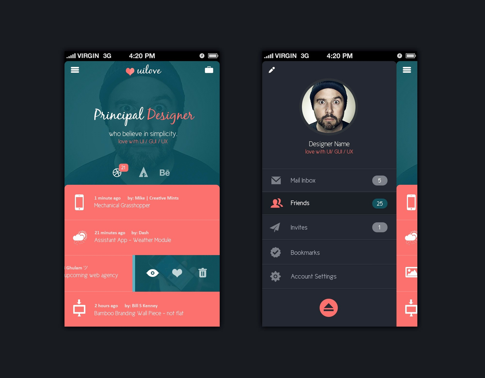 Mobile Apps Design Template Awesome 25 App Profile Page Designs Psd Vector Eps Jpg
