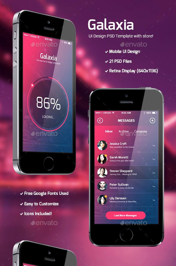 Mobile Apps Design Template Elegant 40 Awesome Mobile App Ui Psd Templates