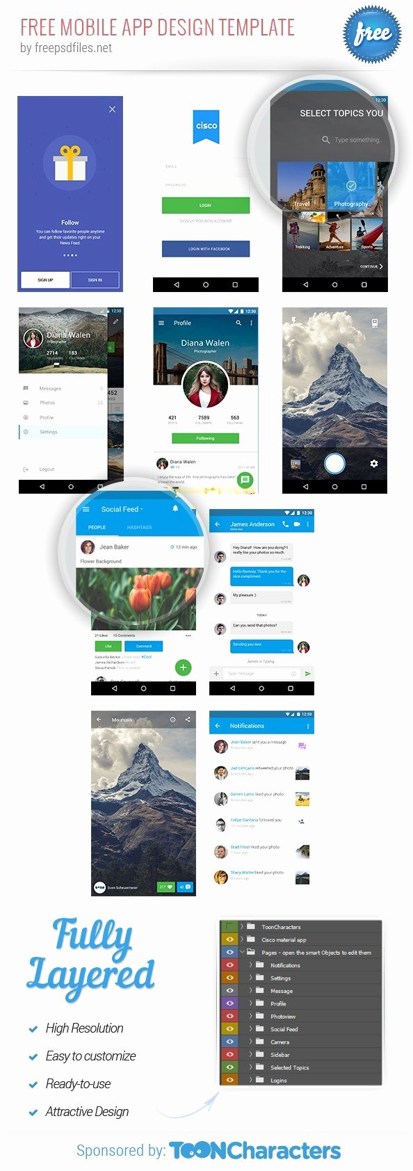 Mobile Apps Design Template Elegant Free Mobile Application Design Template Free Psd Files