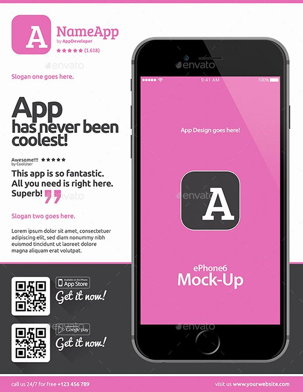 Mobile Apps Design Template Fresh 21 Cool Mobile App Flyer Templates – Design Freebies
