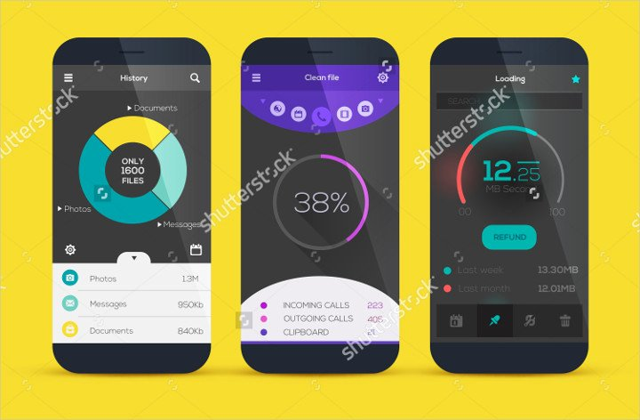 Mobile Apps Design Template Inspirational 12 Best Collection Of Flat Ui Designs
