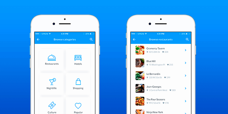 Mobile Apps Design Template Inspirational Cityguide Mobile App Template bypeople