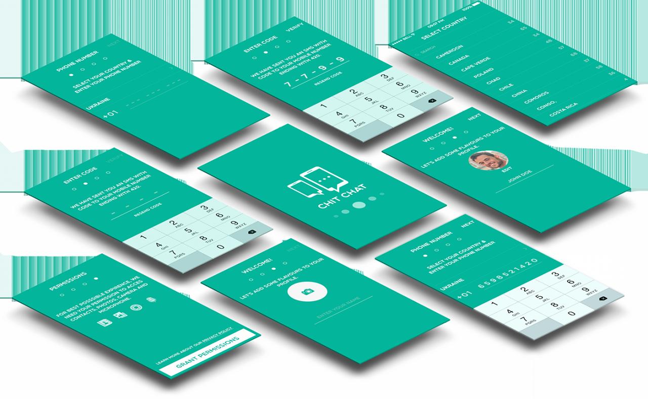 Mobile Apps Design Template Lovely Buy Chit Chat A Mobile Chat App Design Template Utilities