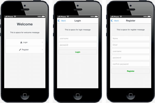 Mobile Apps Design Template Lovely Krisrak Appframework Templates · Github