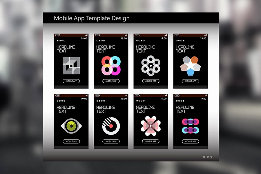 Mobile Apps Design Template Lovely Mobile App Template Design Ui Kits and Libraries