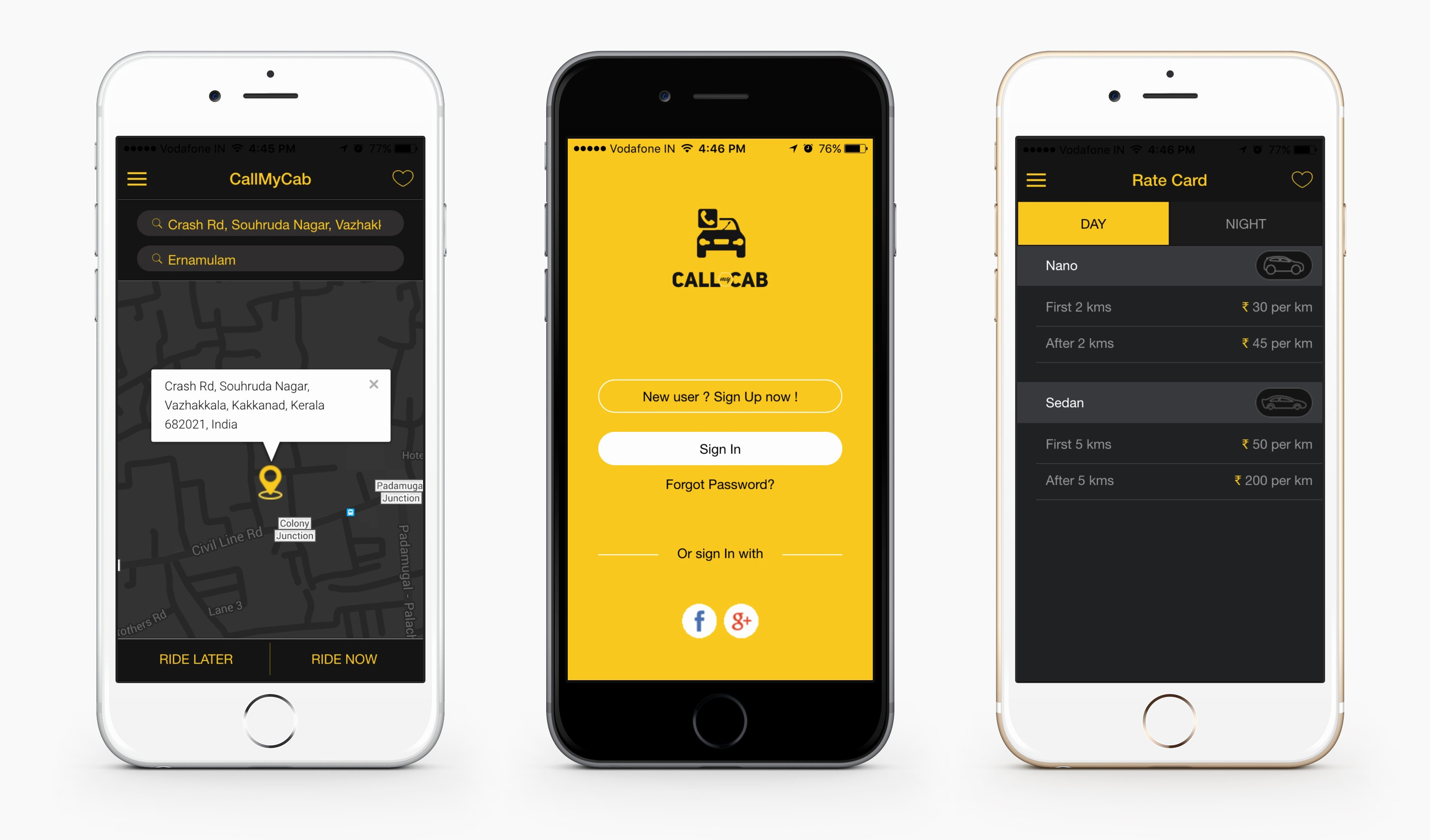 Mobile Apps Design Template Luxury Line Taxi Booking App Call My Cab Mobile App by