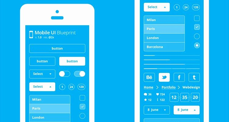 Mobile Apps Design Template New 50 Free Wireframe Templates for Mobile Web and Ux Design