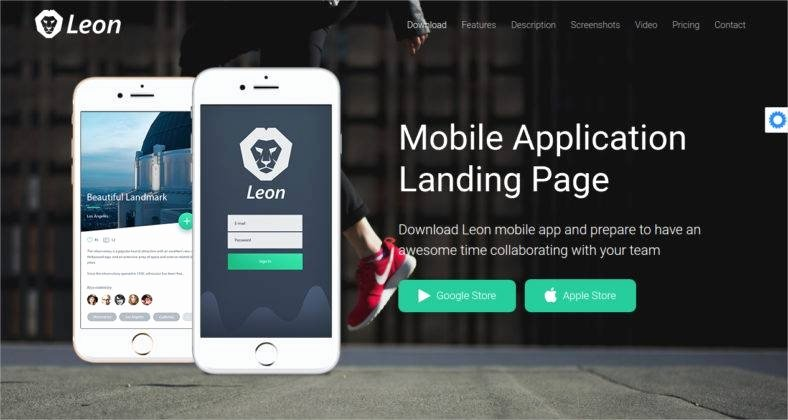 Mobile Landing Page Template Awesome 14 Best Mobile App Landing Page Templates